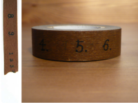 Washi Tape numbers brown 15mm