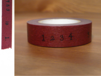 Washi Tape numbers wine 15mm