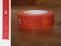 Masking Tape Happy Birthday 15mm