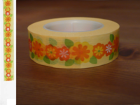 Masking Tape Blumen orange 15mm