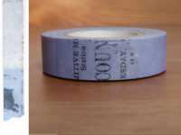 Washi Tape Collage blau 15mm