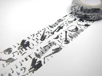 Washi Tape music black 15mm