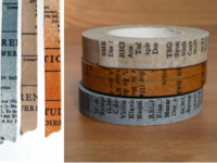 Washi Tape Old Book 3er Set 10mm