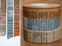 Washi Tape Old Book 3er Set 15mm