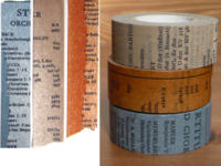 Washi Tape Old Book 3er Set 20mm