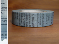 Washi Tape Old Book blau 15mm