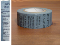 Washi Tape Old Book blau 20mm
