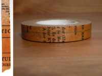 Washi Tape Old Book braun 10mm