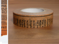 Washi Tape Old Book braun 15mm