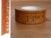 Washi Tape Old Book braun 20mm