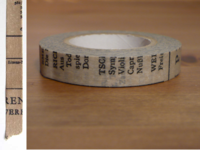 Washi Tape Old Book grau 10mm