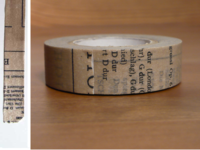 Washi Tape Old Book grau 15mm