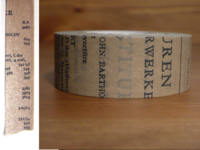 Washi Tape Old Book grau 20mm
