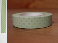 Washi Tape dots back leaf 13mm