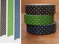 Washi Tape dots dark 3er Set 15mm