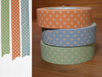 Washi Tape dots light 3er Set 15mm