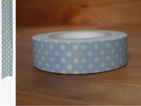 Washi Tape dots light blue 15mm