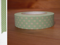 Washi Tape dots light green 15mm