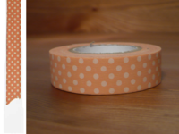 Washi Tape dots salmon 15mm