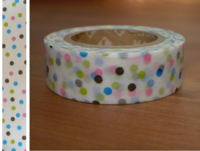 Washi Tape drop blue 15mm