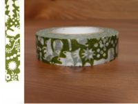 Washi Tape forest of squirrel green 15mm