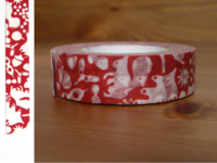Washi Tape forest of squirrel red 15mm