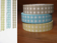 Washi Tape gingham 3er Set 13mm