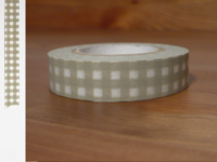 Washi Tape gingham gray 13mm
