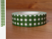 Washi Tape gingham green 15mm