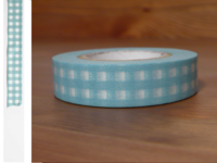 Washi Tape gingham sky 13mm