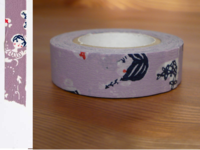 Washi Tape girls asamurasaki 15mm