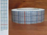Washi Tape grid indigo 18mm