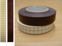 Washi Tape grid nut brown 2er Set 12mm