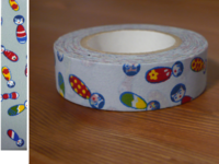 Washi Tape kokeshichan baby blue 15mm