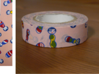 Washi Tape kokeshichan baby pink 15mm