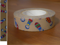 Washi Tape kokeshichan brown 15mm