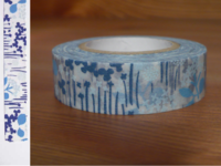 Washi Tape little garden blue 15mm