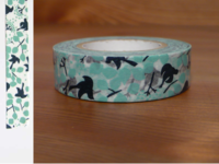 Washi Tape message bird blue 15mm