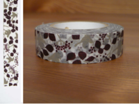 Washi Tape message bird brown 15mm