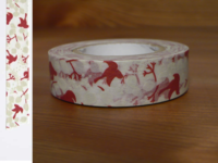 Washi Tape message bird rouge 15mm