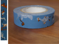 Washi Tape music band blue 15mm
