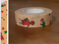 Washi Tape osharesan pink 15mm