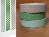 Washi Tape pin dots 3er Set 13mm
