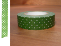 Washi Tape pin dots green 15mm