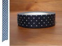 Washi Tape pin dots tetsukon 15mm