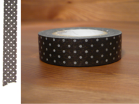 Washi Tape pin dots umber brown 15mm