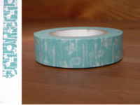 Washi Tape small flower blue 15mm