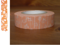 Washi Tape small flower pink 15mm