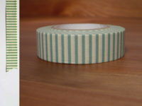 Washi Tape stripes celadon 15mm