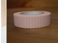 Washi Tape stripes rose pink 15mm